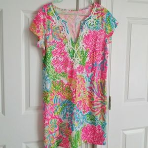 Lilly Pulitzer lovers coral Brewster dress Large